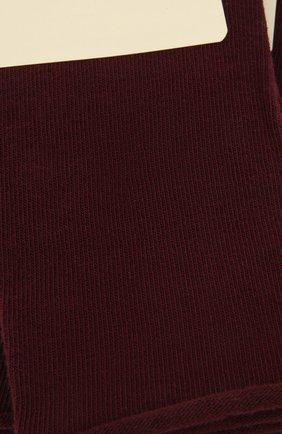 Женские хлопковые носки happy FALKE бордового цвета, арт. 46417 | Фото 2