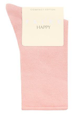 Женские хлопковые носки happy FALKE розового цвета, арт. 46417 | Фото 1
