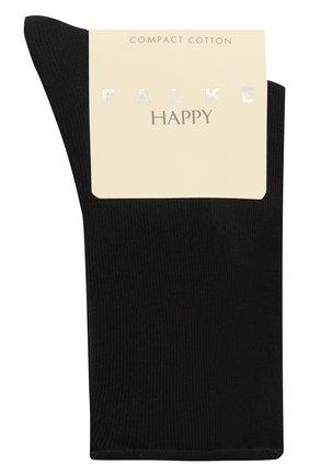Женские хлопковые носки happy FALKE темно-синего цвета, арт. 46417 | Фото 1