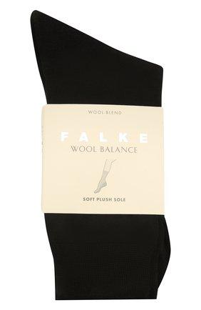 Женские носки wool balance FALKE черного цвета, арт. 46510 | Фото 1
