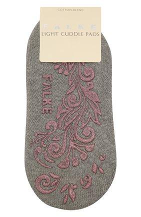 Женские хлопковые носки light cuddle pads FALKE светло-серого цвета, арт. 46585 | Фото 1