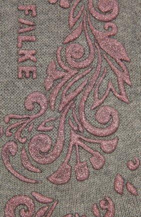 Женские хлопковые носки light cuddle pads FALKE светло-серого цвета, арт. 46585 | Фото 2