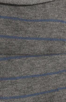 Женские хлопковые носки happy FALKE светло-серого цвета, арт. 46419 | Фото 2