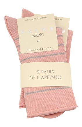Женские хлопковые носки happy FALKE розового цвета, арт. 46419 | Фото 1