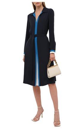 Женское шелковое платье LORO PIANA темно-синего цвета, арт. FAL5465 | Фото 2