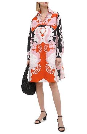 Женское хлопковое платье VALENTINO оранжевого цвета, арт. VB3ABG657A0 | Фото 2