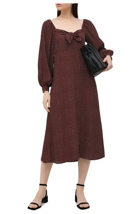 Женское платье из вискозы FAITHFULL THE BRAND коричневого цвета, арт. FF1669-BDP | Фото 2