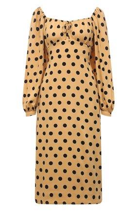 Женское платье из вискозы FAITHFULL THE BRAND бежевого цвета, арт. FF1667-EDB | Фото 1