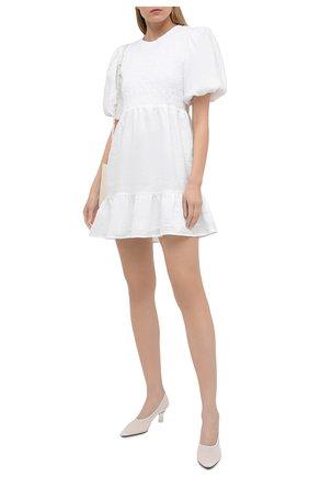 Женское льняное платье FAITHFULL THE BRAND белого цвета, арт. FF1652-WHT | Фото 2
