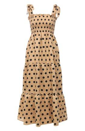 Женское льняное платье FAITHFULL THE BRAND бежевого цвета, арт. FF1584-EDB | Фото 1