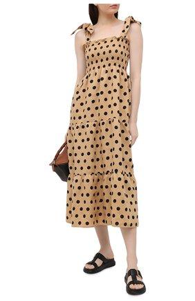 Женское льняное платье FAITHFULL THE BRAND бежевого цвета, арт. FF1584-EDB | Фото 2