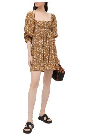 Женское платье из вискозы FAITHFULL THE BRAND коричневого цвета, арт. FF1572-LMP | Фото 2