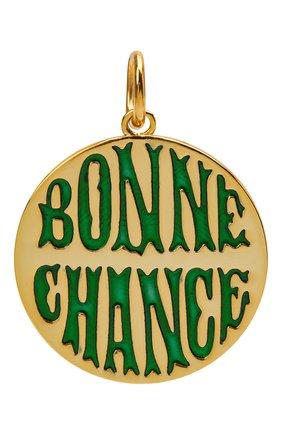 Женская подвеска bonne chance HYPSO зеленого цвета, арт. MEDAILLE B0NNE CHANCE   Фото 1
