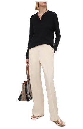 Женский пуловер MONROW черного цвета, арт. HT1021 | Фото 2