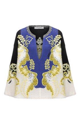 Женский хлопковый свитер VALENTINO разноцветного цвета, арт. VB3KC21Q6AA   Фото 1