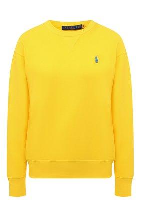 Женский хлопковый свитшот POLO RALPH LAUREN желтого цвета, арт. 211780304 | Фото 1