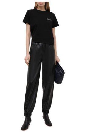 Женская хлопковая футболка SEVEN LAB черного цвета, арт. T20-S black | Фото 2