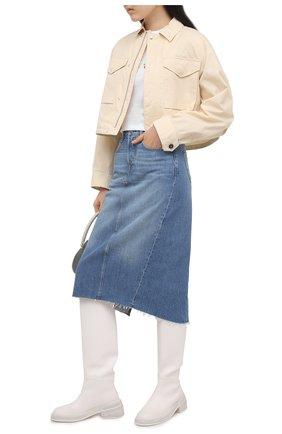 Женская хлопковая футболка POLO RALPH LAUREN белого цвета, арт. 211827661 | Фото 2