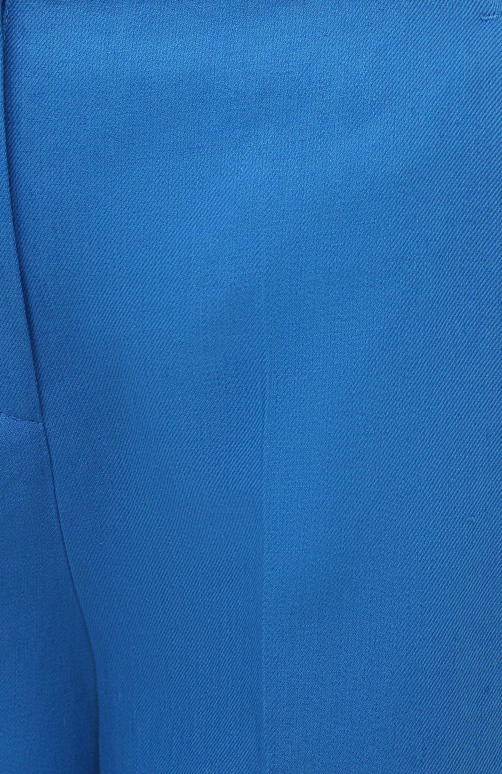 Женские льняные шорты LORO PIANA синего цвета, арт. FAL5943 | Фото 5 (Женское Кросс-КТ: Шорты-одежда; Длина Ж (юбки, платья, шорты): Мини; Материал внешний: Лен; Стили: Кэжуэл)