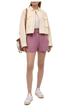 Женские шорты из хлопка и льна ISABEL MARANT ETOILE розового цвета, арт. SH0366-21P004E/PARANA | Фото 2