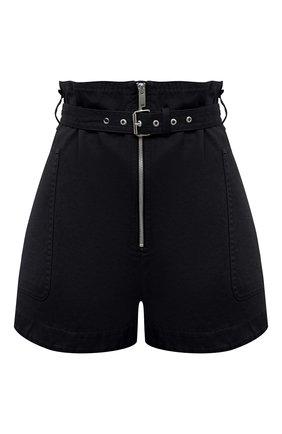 Женские шорты из хлопка и льна ISABEL MARANT ETOILE темно-серого цвета, арт. SH0366-21P004E/PARANA | Фото 1