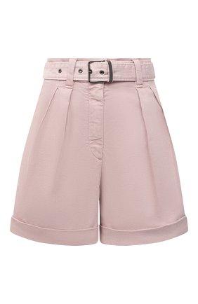 Женские джинсовые шорты BRUNELLO CUCINELLI розового цвета, арт. MA080P5646 | Фото 1 (Материал внешний: Хлопок, Лиоцелл; Женское Кросс-КТ: Шорты-одежда; Кросс-КТ: Деним; Стили: Кэжуэл; Длина Ж (юбки, платья, шорты): Мини)