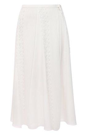 Женская шелковая юбка CHLOÉ белого цвета, арт. CHC21SJU09002 | Фото 1