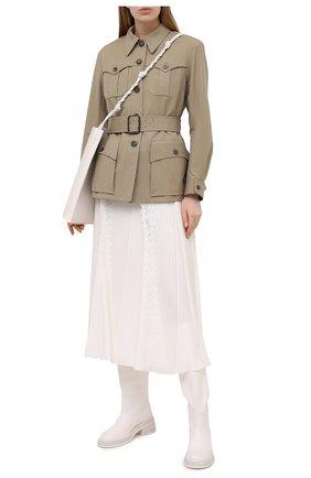Женская шелковая юбка CHLOÉ белого цвета, арт. CHC21SJU09002 | Фото 2