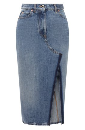 Женская джинсовая юбка VALENTINO синего цвета, арт. VB3DD12A559 | Фото 1