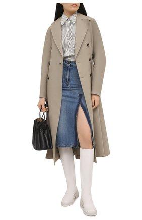 Женская джинсовая юбка VALENTINO синего цвета, арт. VB3DD12A559 | Фото 2