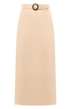 Женская льняная юбка FAITHFULL THE BRAND кремвого цвета, арт. FF1671-PSD | Фото 1