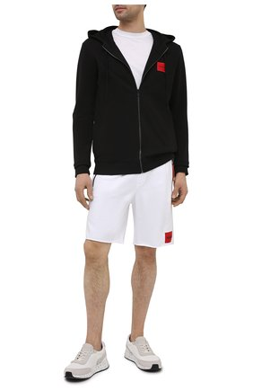 Мужской хлопковая толстовка HUGO черного цвета, арт. 50447972 | Фото 2 (Материал внешний: Хлопок; Рукава: Длинные; Длина (для топов): Стандартные; Стили: Кэжуэл; Мужское Кросс-КТ: Толстовка-одежда)