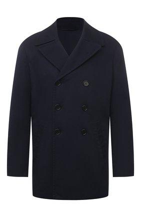 Мужской хлопковое пальто ASPESI синего цвета, арт. S1 A CG35 E794 | Фото 1 (Длина (верхняя одежда): Короткие; Рукава: Длинные; Материал внешний: Хлопок; Материал подклада: Синтетический материал; Стили: Кэжуэл; Мужское Кросс-КТ: пальто-верхняя одежда)