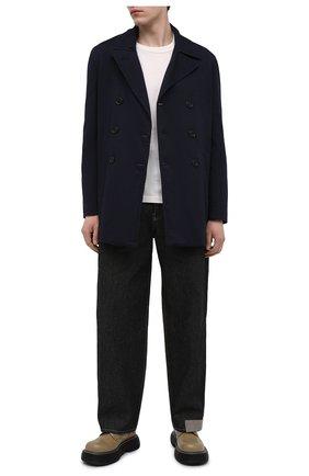 Мужской хлопковое пальто ASPESI синего цвета, арт. S1 A CG35 E794 | Фото 2 (Длина (верхняя одежда): Короткие; Рукава: Длинные; Материал внешний: Хлопок; Материал подклада: Синтетический материал; Стили: Кэжуэл; Мужское Кросс-КТ: пальто-верхняя одежда)