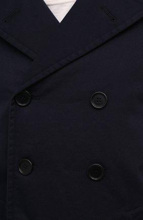 Мужской хлопковое пальто ASPESI синего цвета, арт. S1 A CG35 E794   Фото 5 (Рукава: Длинные; Материал внешний: Хлопок; Материал подклада: Синтетический материал; Длина (верхняя одежда): Короткие; Мужское Кросс-КТ: пальто-верхняя одежда; Стили: Кэжуэл)