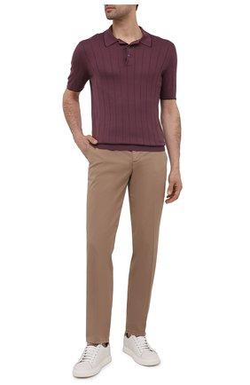 Мужское шелковое поло GRAN SASSO бордового цвета, арт. 43117/23510 | Фото 2
