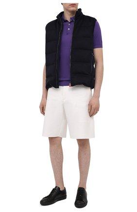 Мужские кожаные кеды DOUCAL'S черного цвета, арт. DU2801ERICUV055NN00   Фото 2