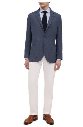 Мужские кожаные монки SANTONI светло-коричневого цвета, арт. MCC017500MC4HNGWM46 | Фото 2 (Материал внутренний: Натуральная кожа; Стили: Классический)
