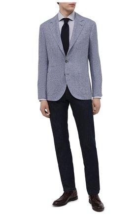 Мужские кожаные дерби W.GIBBS бордового цвета, арт. 0337007/1362   Фото 2 (Материал внутренний: Натуральная кожа; Стили: Классический)