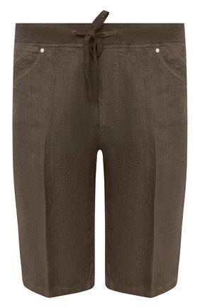 Мужские льняные шорты 120% LINO хаки цвета, арт. T0M2120/0253/S00 | Фото 1