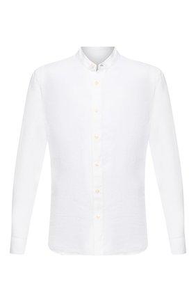 Мужская льняная рубашка 120% LINO белого цвета, арт. T0M1159/B317/000 | Фото 1