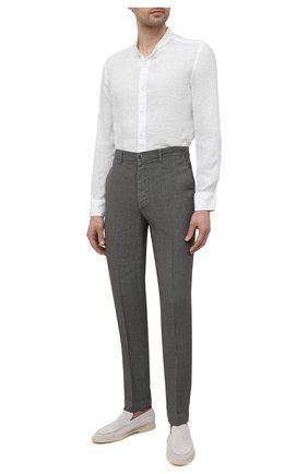 Мужская льняная рубашка 120% LINO белого цвета, арт. T0M1159/B317/000 | Фото 2