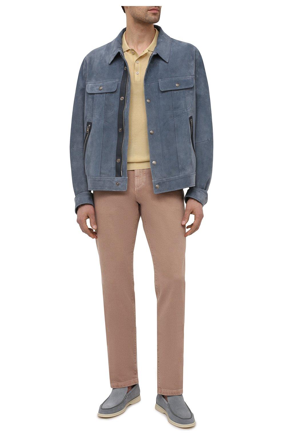 Мужская замшевая куртка TOM FORD синего цвета, арт. BW417/TFL852 | Фото 2