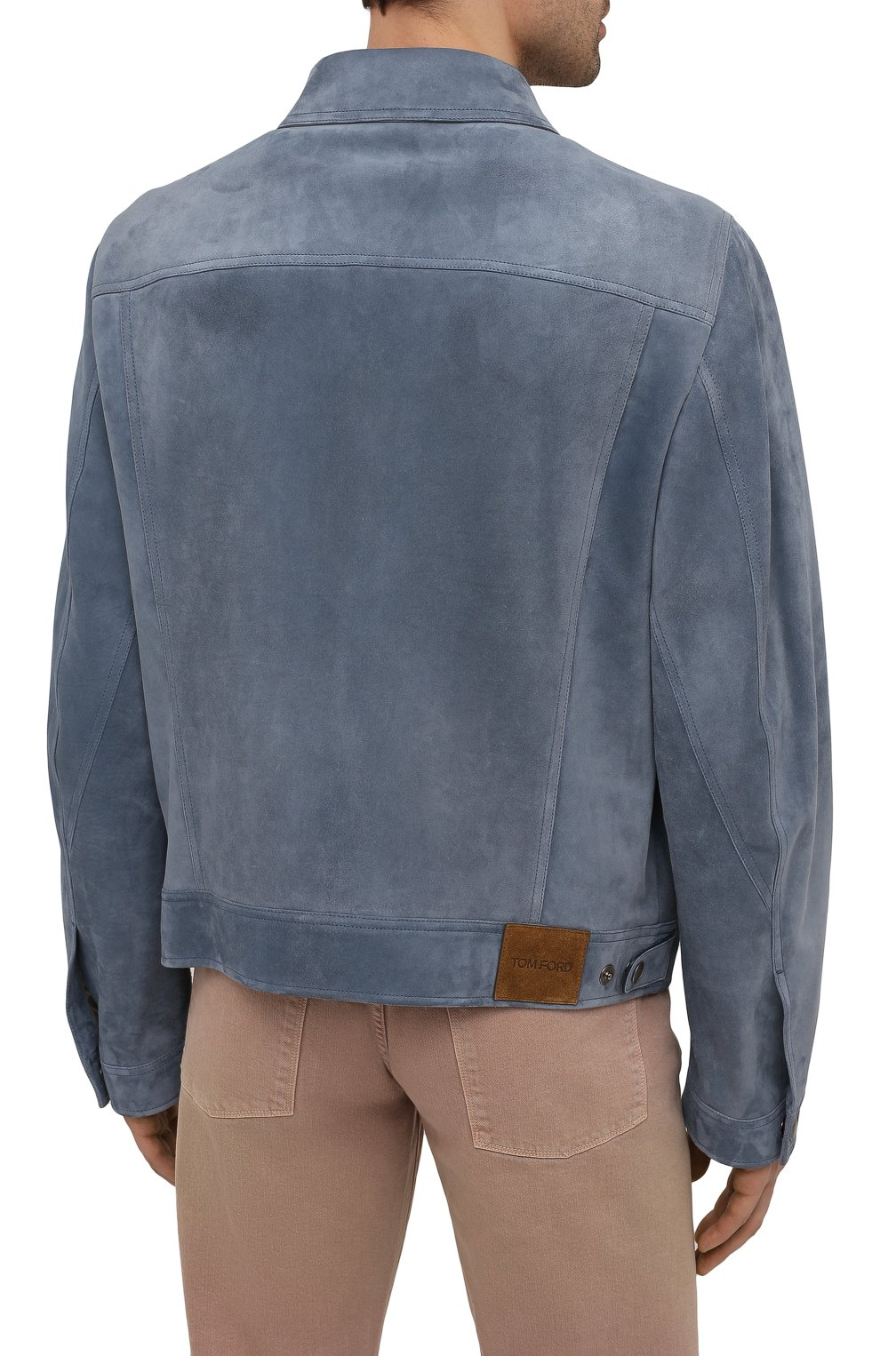 Мужская замшевая куртка TOM FORD синего цвета, арт. BW417/TFL852 | Фото 4