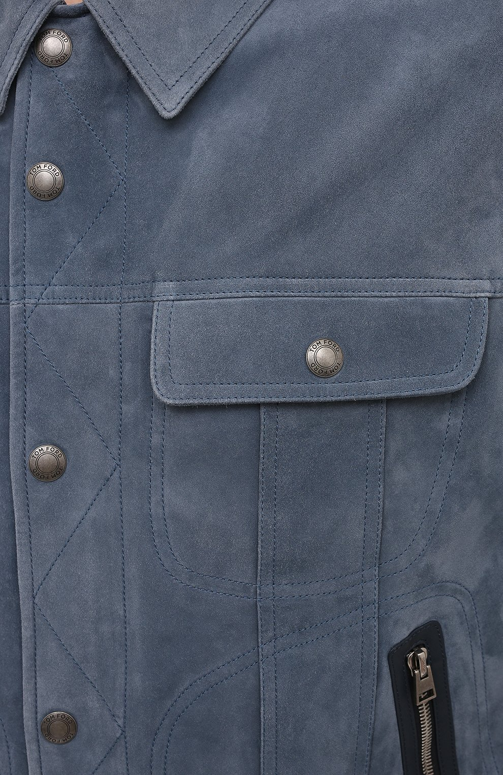 Мужская замшевая куртка TOM FORD синего цвета, арт. BW417/TFL852 | Фото 5