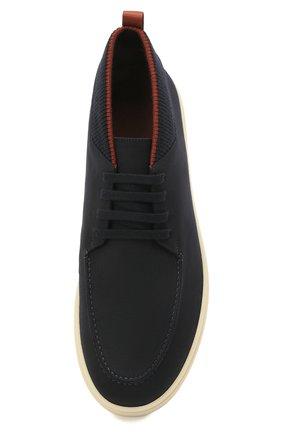 Мужские текстильные ботинки soho LORO PIANA темно-синего цвета, арт. FAL6184 | Фото 5
