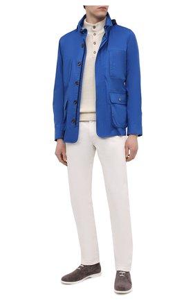 Мужская шерстяная куртка KIRED синего цвета, арт. WY0SHIW7104007001 | Фото 2
