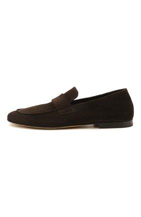 Мужские замшевые лоферы OFFICINE CREATIVE темно-коричневого цвета, арт. AIRT0/001/GUYA | Фото 3 (Мужское Кросс-КТ: Лоферы-обувь; Материал внутренний: Натуральная кожа; Материал внешний: Замша; Стили: Кэжуэл)