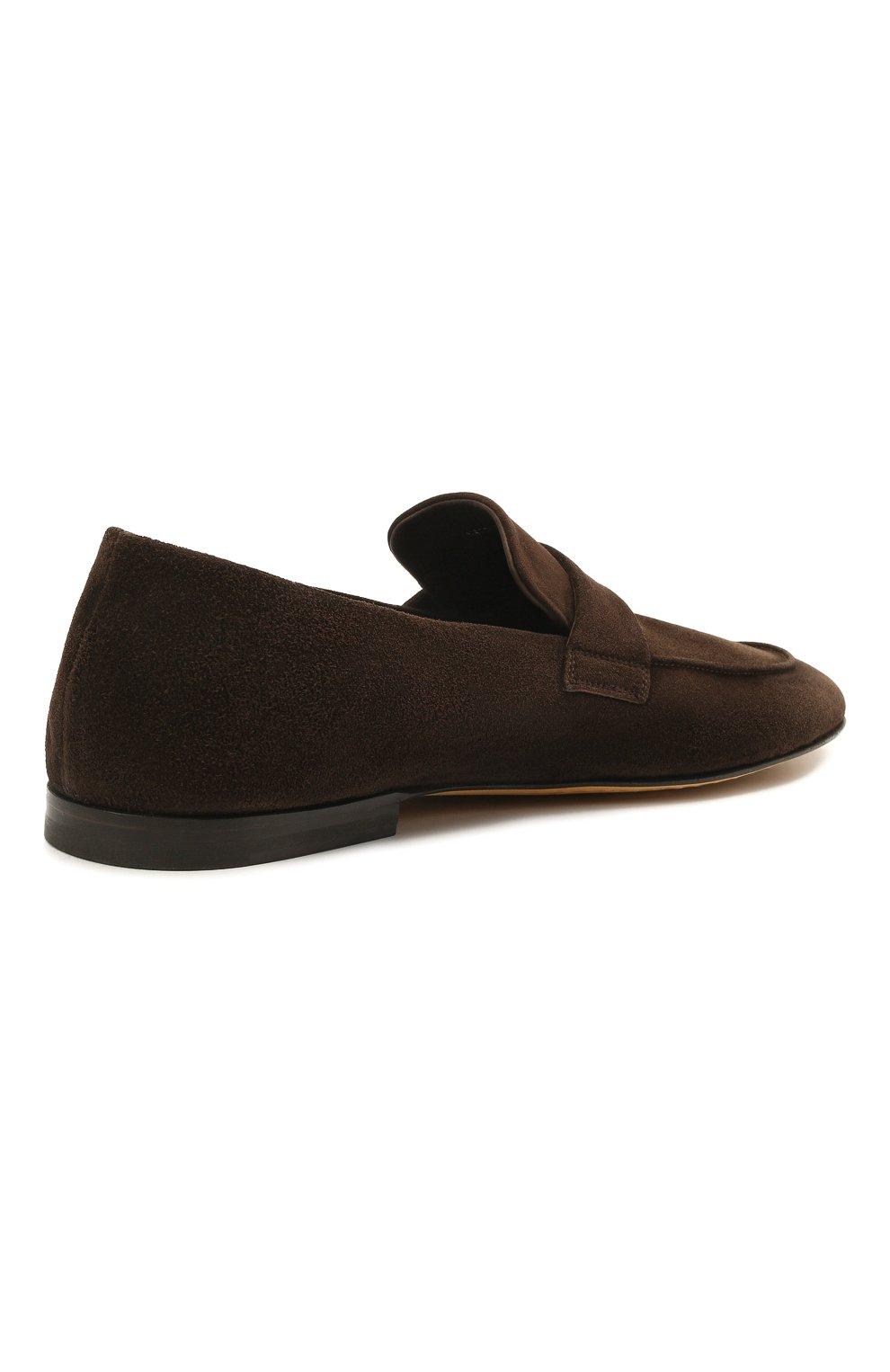 Мужские замшевые лоферы OFFICINE CREATIVE темно-коричневого цвета, арт. AIRT0/001/GUYA | Фото 4 (Мужское Кросс-КТ: Лоферы-обувь; Материал внутренний: Натуральная кожа; Материал внешний: Замша; Стили: Кэжуэл)