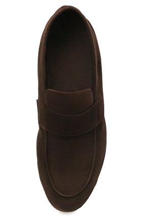 Мужские замшевые лоферы OFFICINE CREATIVE темно-коричневого цвета, арт. AIRT0/001/GUYA | Фото 5 (Мужское Кросс-КТ: Лоферы-обувь; Материал внутренний: Натуральная кожа; Материал внешний: Замша; Стили: Кэжуэл)